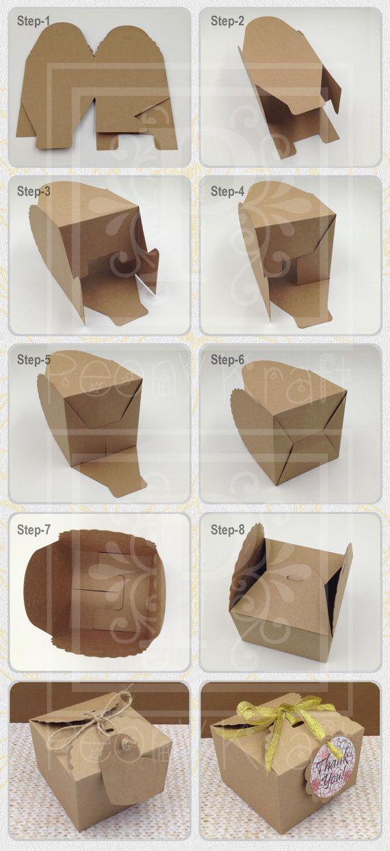 Set di 10 pezzi Baby doccia regalo scatole con tag di PeonyKraft