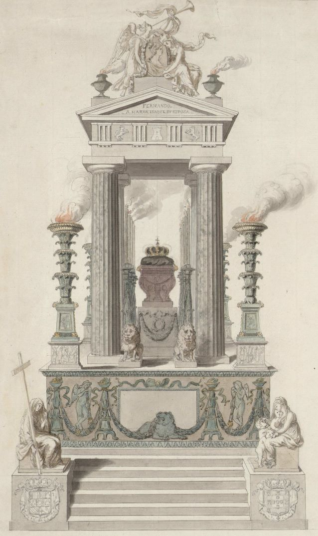 Giuseppe Camporese Proyecto Para El Túmulo De La Reina María Isabel De Braganza En Roma 1819 Producción Artística Arte Reina María
