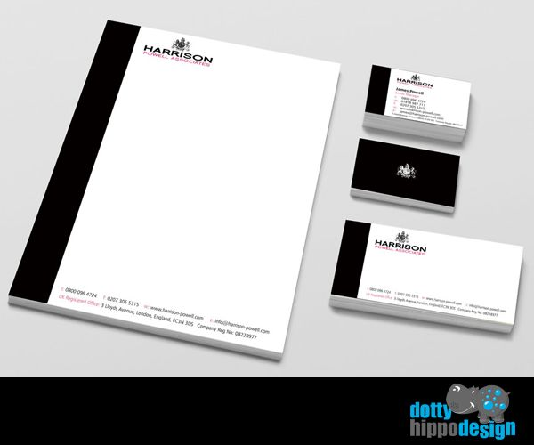 Business stationery pack for Harrison Powell
