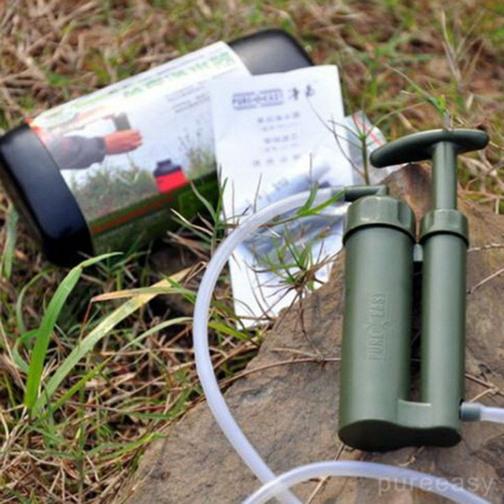 Portable outdoor water #filter #purify pump outdoor survival hiking #camping ur,  View more on the LINK: http://www.zeppy.io/product/gb/2/401058725850/