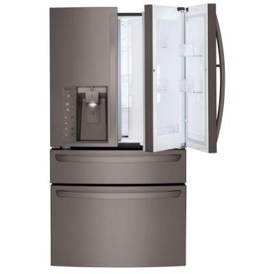 LG Electronics 30 cu. ft. French Door Refrigerator with Door in Door in Black Diamond Stainless Steel - LMXS30776D - The Home Depot