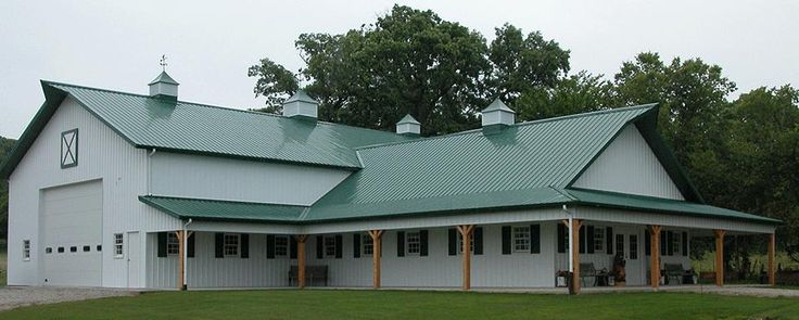 Suburban Building Profile Use: Post-frame banquet hall and rural storage with porch area Size ...