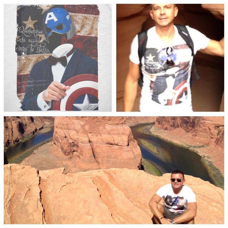 Captain American at Antelope Canyon (USA)