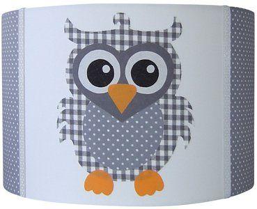 Kinderlamp met Uilen erop. Hippe Lamp in Grijs met Uiltjes. Owls ...