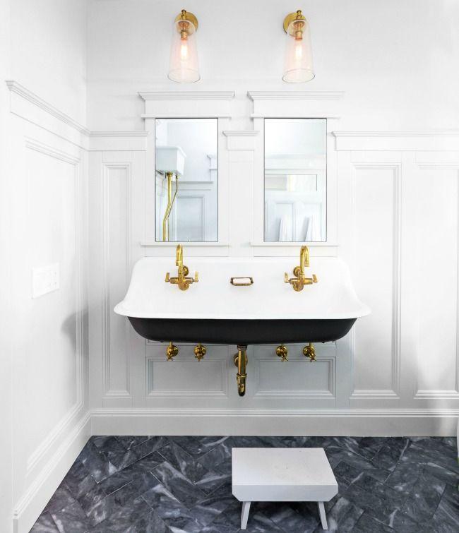 25 melhores ideias de banheiros chiques despojados no for Kitchen cabinets 08234