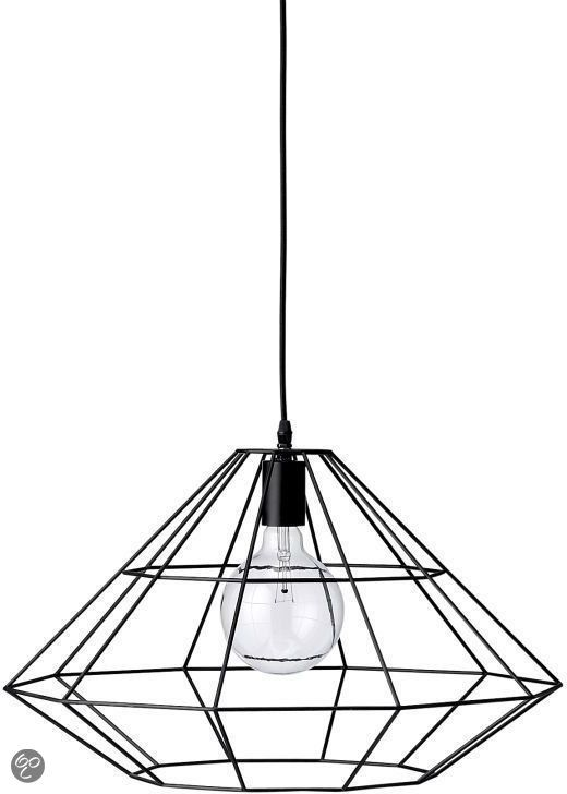 Bloomingville Design Hanglamp - Matzwart Metaal