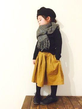 CHIIIICOさんのスカート「Ocean&Ground COTTON PLEATS SKIRT (90~140cm)」を使ったコーディネート