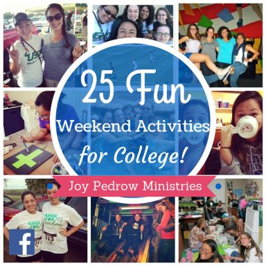 During my freshman year of college, I worried that I wasn't truly experiencing college because I wasn't drinking and partying. What a lie I believed. College can be fun without the party scene. Here are 25 fun weekend activities for college!