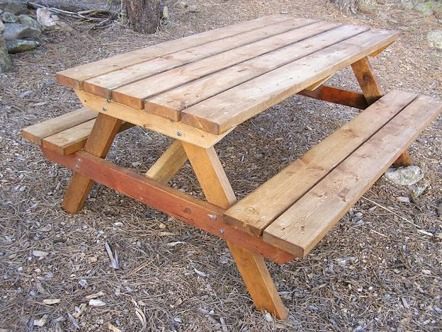 Wood Picnic Table Plan