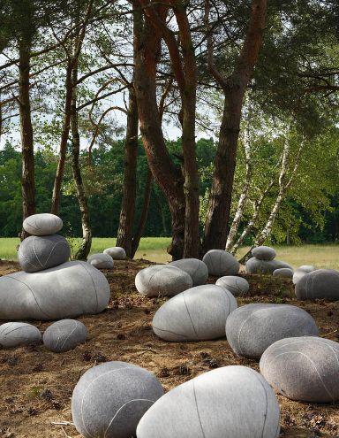 Softe Steine aus Filz