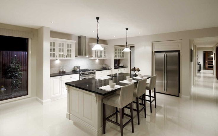 metricon promenade kitchen - a nice compromise between gorgeous American design and Australian current trends.
