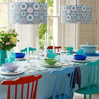 Double lights, double love.: Decor, Ideas, Colors Combos, Kitchens Chairs, Dining Rooms Chairs, Lamps Shades, Lights Shades, Kitchens Furniture, Paintings Chairs