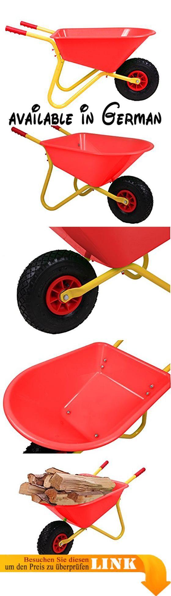 Ondis24 Kinderschubkarre Gartenschubkarre 20 Liter rote Mulde aus Kunststoff für Kinder. vollwertige stabile Schubkarre für Kinder mit 20 Litern Muldenvolumen, hochwertige Verarbeitung mit Kunststoffmulde und Metallgestänge. sehr stabile Kinderkarre mit Luftrad, dadurch leichtgängig, robust und original wie eine Schubkarre für Erwachsene. leuchtende Farbe der Kunststoffmulde und nur 4.5 Kg schwer #Toy #TOYS_AND_GAMES