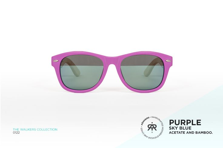 PURPLE WAYFARER UNISEX SUNGLASSES / SKY BLUE FADED LENS  $1,099 MX