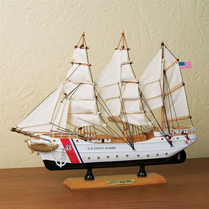 US Coast Guard Tall Ship 'Eagle' Music Box