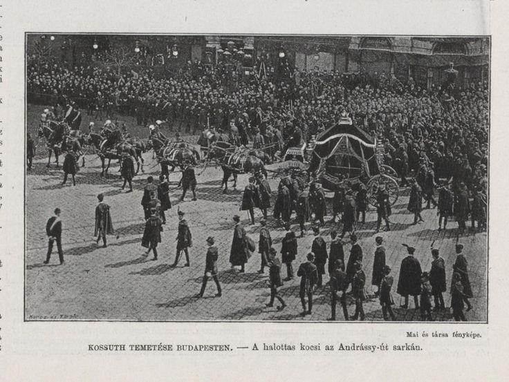 1894. Kossuth Lajos temetése -   Gyászmenet az Andrassy úton