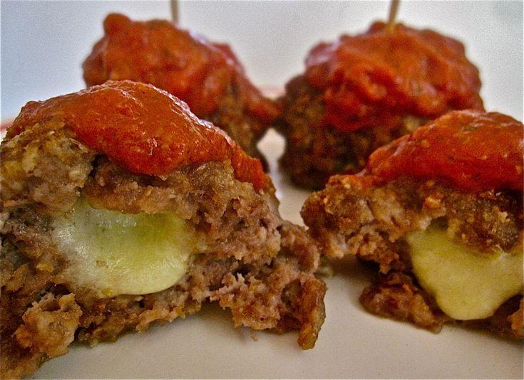 Bocconcini Stuffed Meatballs | Food Snob