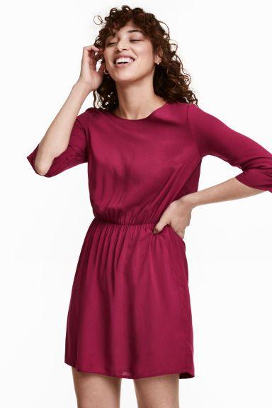Short dress - Plum - Ladies | H&M GB 1