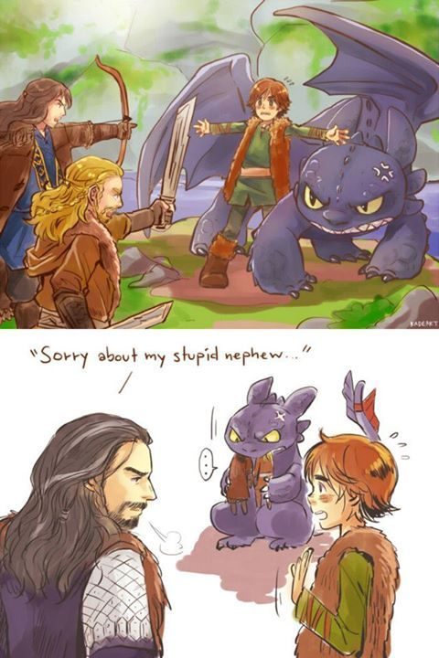 How to Train Your Dragon & The Hobbit crossover