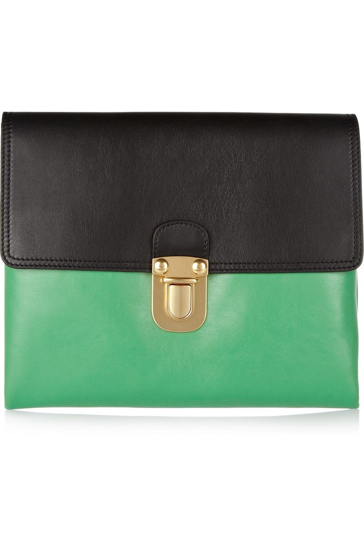 VIDA Leather Statement Clutch - Ginkgo To Go Natural by VIDA vFIP6ChPt