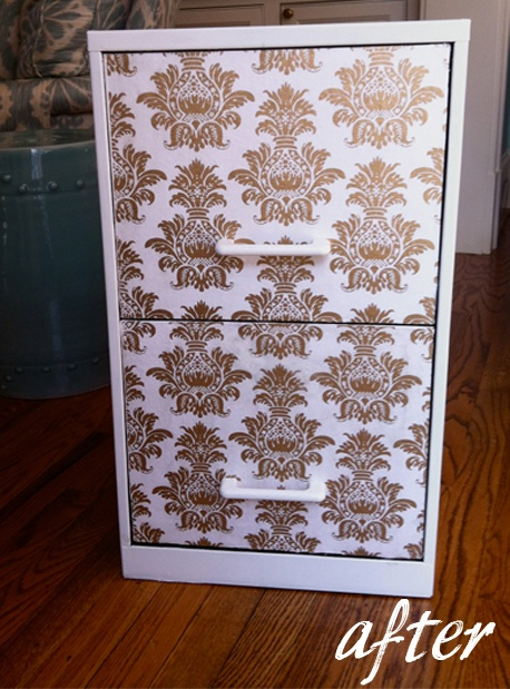 Made over this filing cabinet for my #office #diy