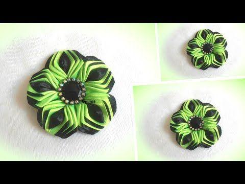 Цветы из лент, канзаши, МК  / DIY satin ribbon flower, kanzashi - YouTube