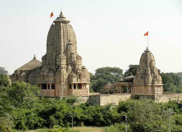 Temple-complex inside the Chittorgarh Fort, Rajasthan, India