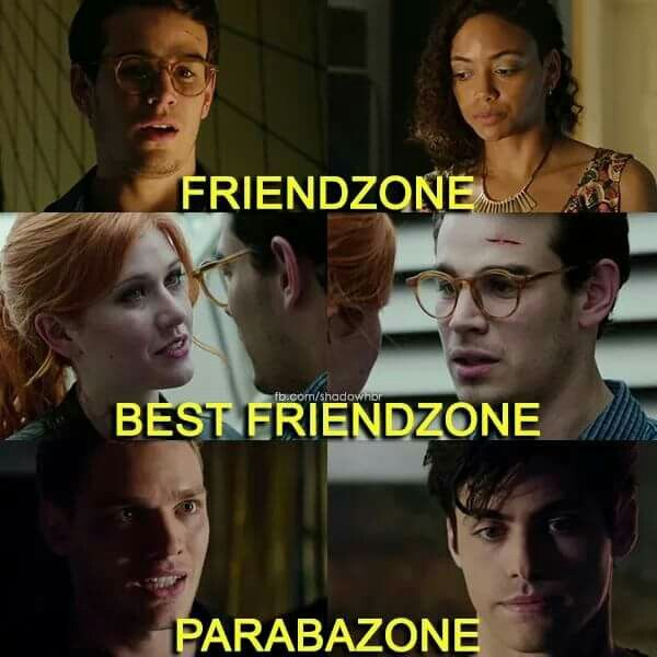 Let's all give a moment of silence for Emma Carstairs and Julian Blackthorn, the only two people to escape the parabazone. Let's of course not forget about Jace Herondale and Clary Fairchild, who escaped the siblingzone.
