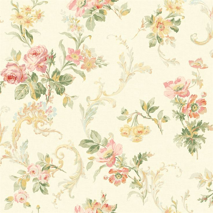 A Lovely Vintage Rose Wallpaper Print From The Book