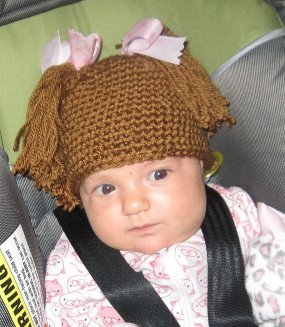 Free Crochet Baby Wig Hat Pattern : 1000+ ideas about Cabbage Patch Hat on Pinterest Crochet ...