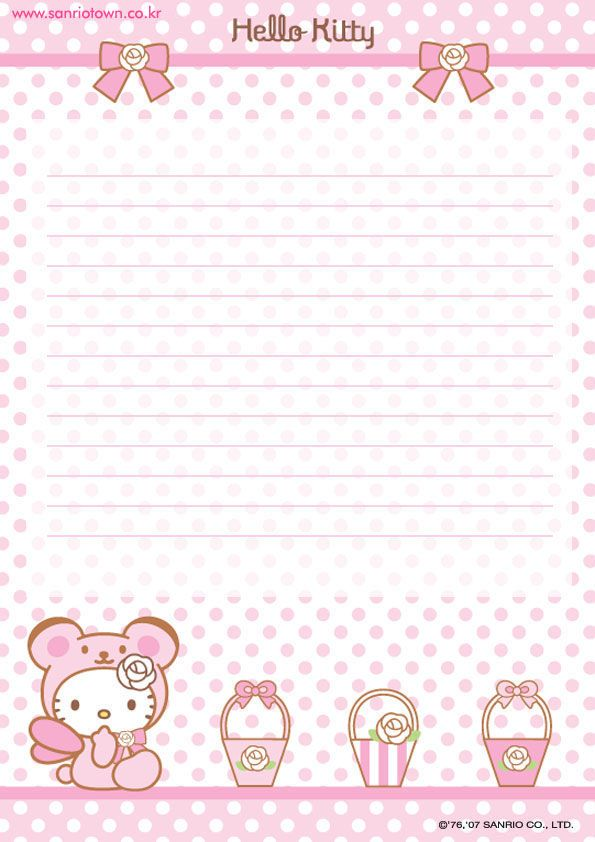 hello kitty printable stationary - Printable Printable