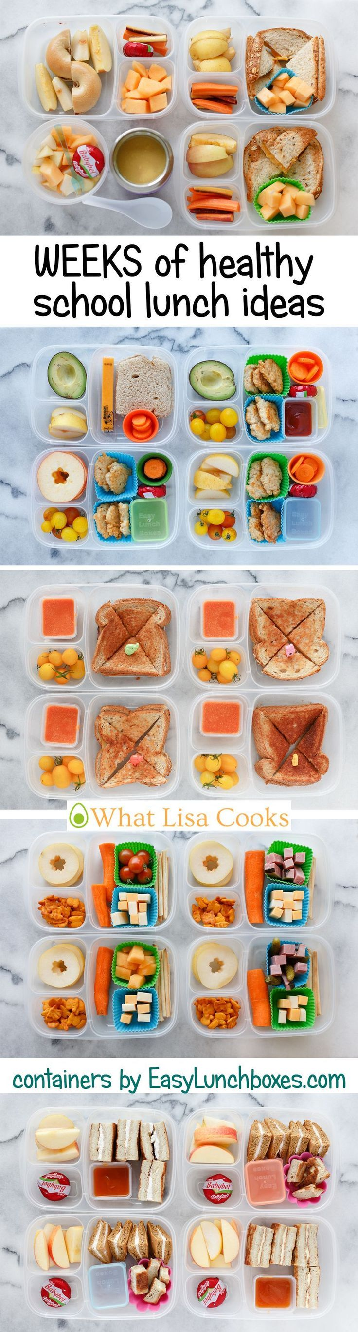 Week by week school lunch ideas from a mom of 4.