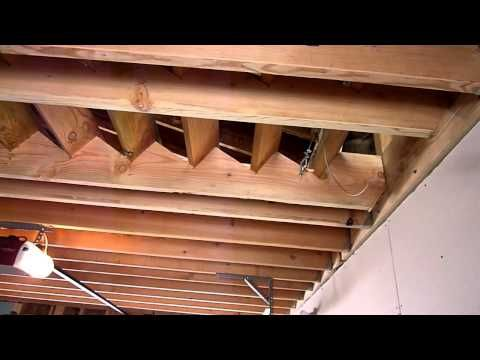Hinged Stairs Youtube Attic Storage Attic Stairs Garage Attic