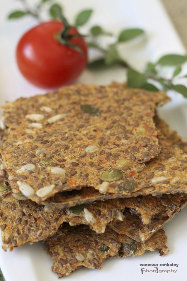 Dehydrated Flax Crackers - Delicious Alternatives