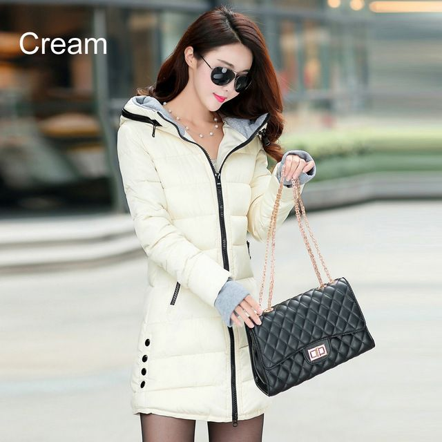 Warm Winter Jackets Women Fashion Down Cotton Parkas Casual Hooded Long Coat Thickening Parka Zipper Cotton Slim That`s just superb! Get it here