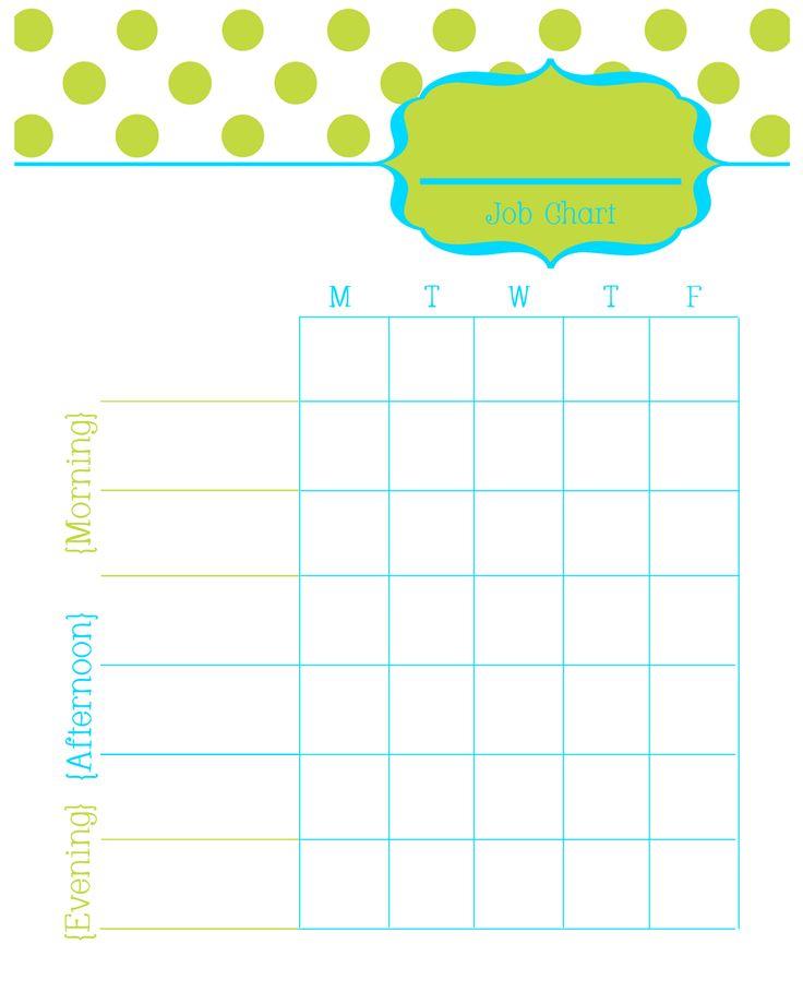 allowance chart template - 1000 ideas about printable chore chart on pinterest