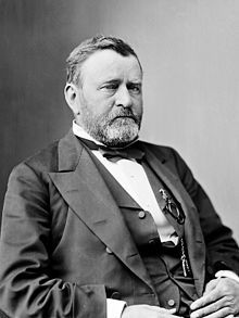 "Ulysses S. Grant -18th President of US - from 1869 to 1877 - served 2 terms,  Under Grant, the Union Army defeated the Confederate military which ended the Civil War. He was a 'career soldier'; graduated from West Point. Born in 1882. His mother was an ""emotionally detached"" woman (she never visited him once in the White House).  He was never a wealthy man, but was a caring & devoted husband and father. Died in1885 of throat cancer at the age of 63."