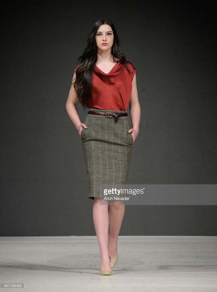 A model walks the runway wearing Elle Made Well at Vancouver Fashion Week Fall/Winter 2017 at Chinese Cultural Centre of Greater Vancouver on March 23, 2017 in Vancouver, Canada.