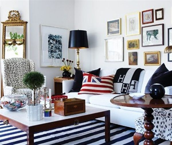 Tommy smythe 39 s living room y co navy blue and white for 420 room decor