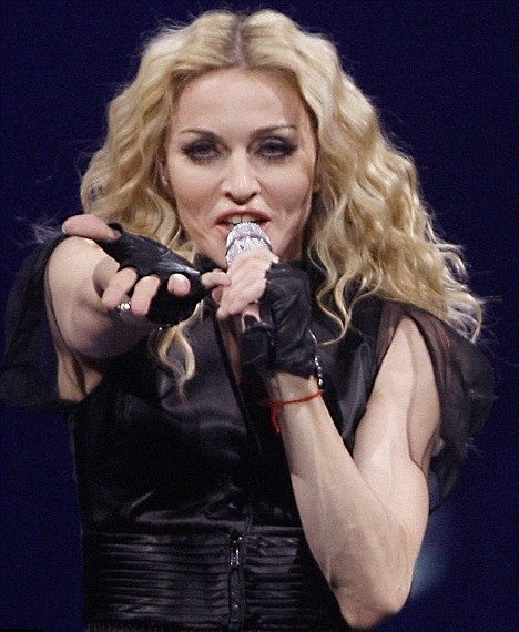 Madonna performing.