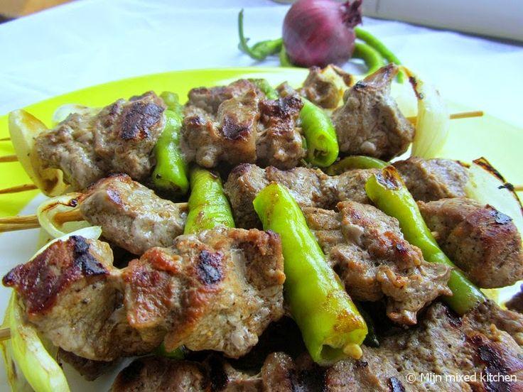Mijn mixed kitchen: Şiş kebap (Turkse spiesjes met gekruid rundvlees)