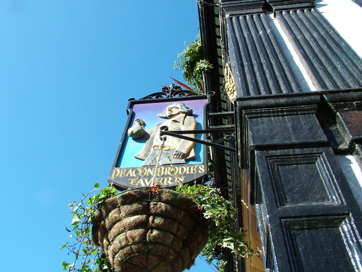 Sign of Deacons Brodies Tavern