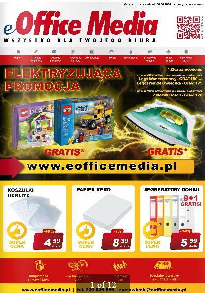 Nowa gazetka Office Media jak zawsze pełna ciekawych produktów, niezbędnych w każdym biurze. Obniżka cen nawet do -55%!!! http://www.promocyjni.pl/gazetki/16022-wszystko-dla-biura-gazetka-promocyjna