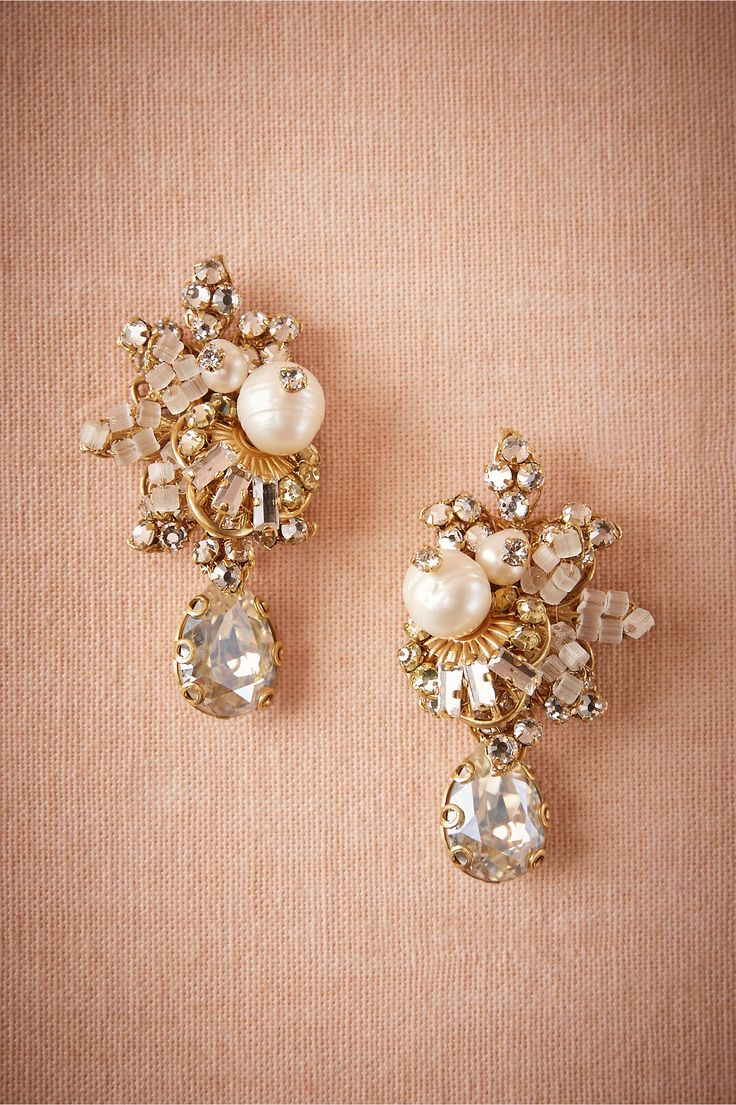 Faina Cluster Earrings in New Shoes & Accessories at BHLDN #BHLDNwishes