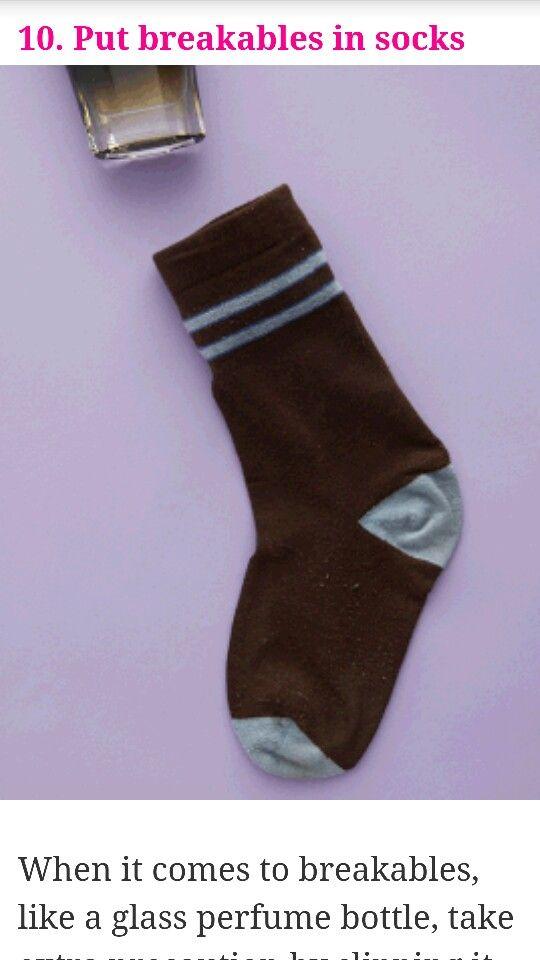 Put breakables in socks