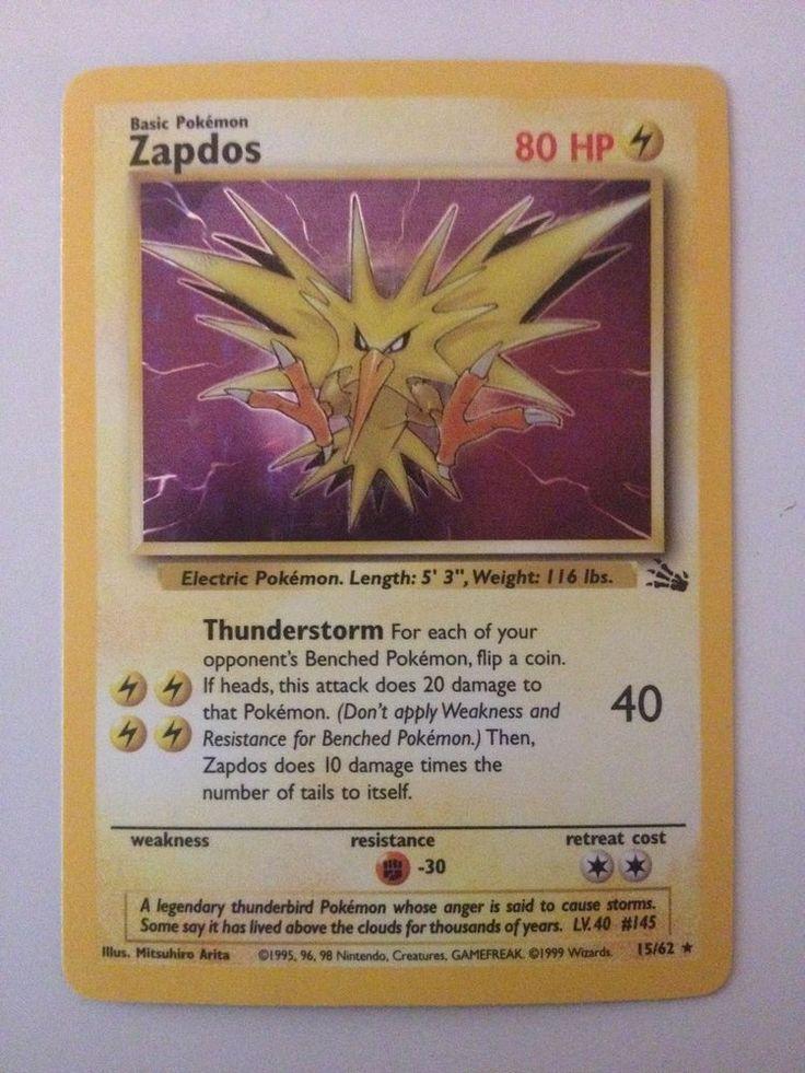 Zapdos 15/62 Holo Evolution Box Error - Fossil Set Pokemon Card - Rare Holofoil  #WizardsoftheCoast