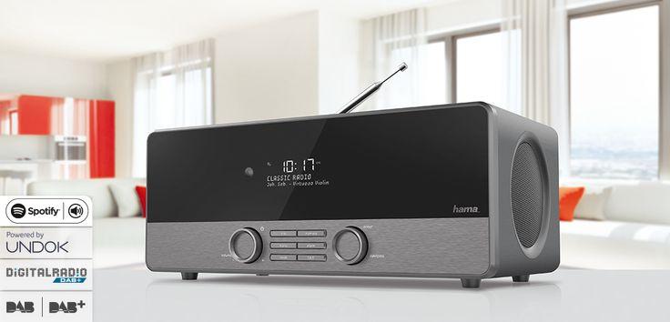 "hama.com | 00054830 Hama ""DIR3120"" Digital Radio, DAB+/Internet radio/FM"