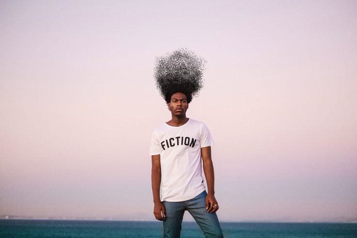 Minimal Afro edit I did on an influencer fashion editorial for Fiction.