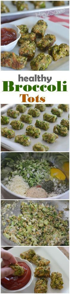 """If you're looking for a unique way to enjoy broccoli, check out these yummy and kid-friendly broccoli tots! Serve them as a healthy homemade snack or side dish! You can form them into a """"tot"""" shape, or simply bake them in a mini muffin pan. The Parmesan cheese and breadcrumbs add lots of flavor!"""