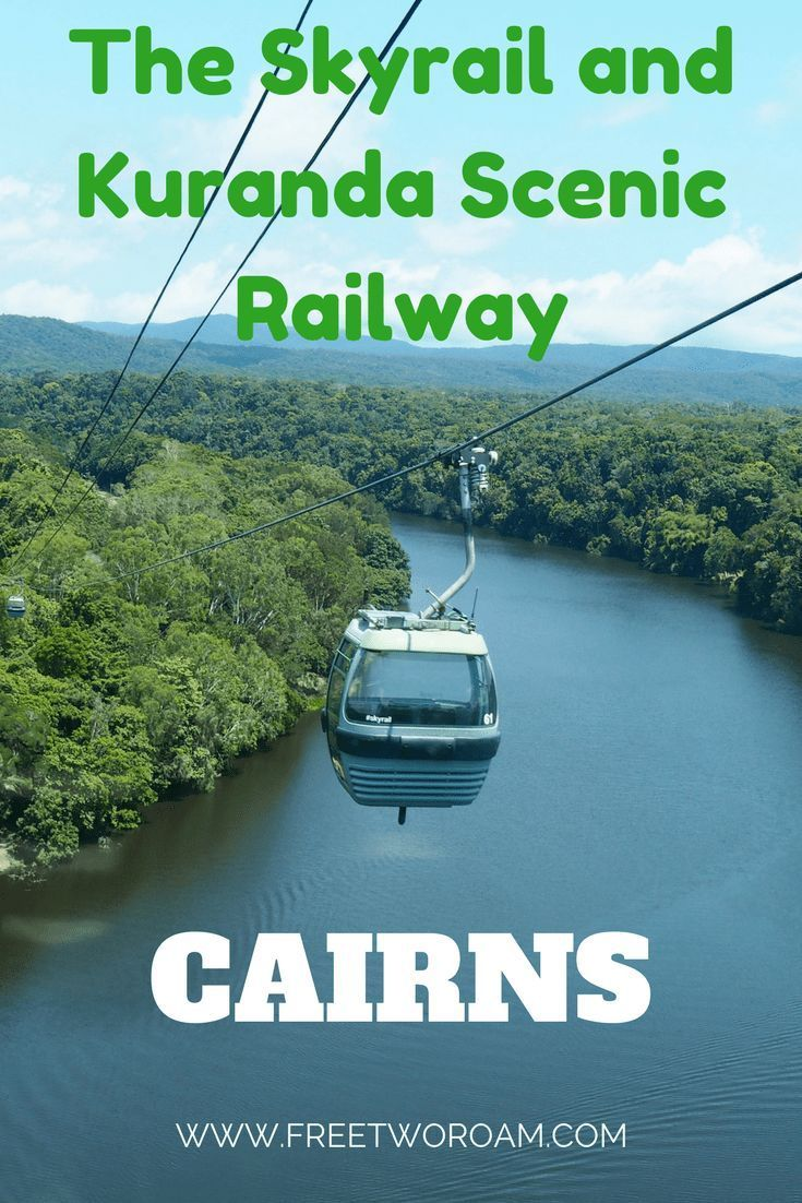 While in Cairns, Australia, make sure to get on the Skyrail up to the small village of Kuranda. With the Skyrail, you will get the best angle over the Barron Gorge National Park and rainforest. After exploring Kuranda, get on the Kuranda Scenic Railway for a view of the rainforest from down below.